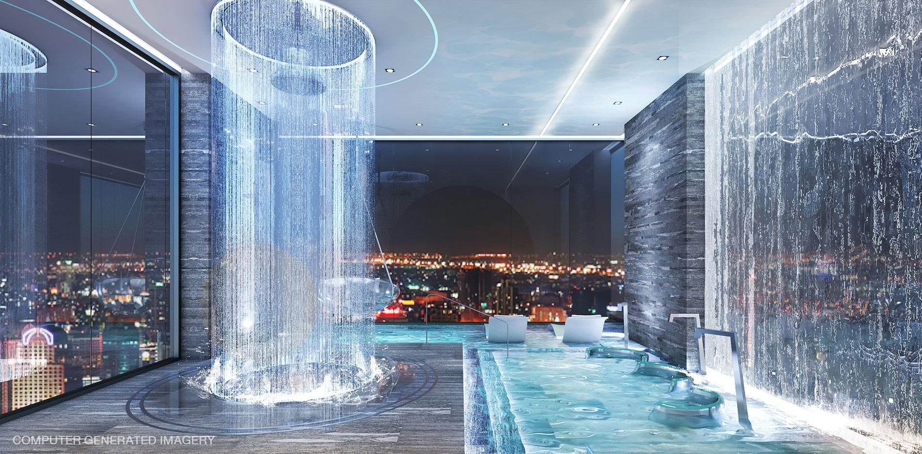 Building C: Aqua Lounge ให้คุณผ่อนคลาย ท่ามกลางสายน้ำ ที่ปรับอุณหภูมิให้เหมาะกับร่างกายของคุณ