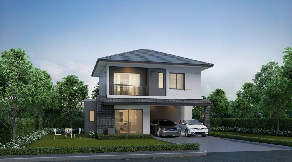 REGENT บ้านเดี่ยวที่รองรับสำหรับครอบครัวขยาย 3 ห้องนอน, 3 ห้องน้ำ, 1 ห้องนั่งเล่น, 1 ห้องอเนกประสงค์, 1 ห้องครัวไทย, 1 แพนทรี, 2 ที่จอดรถ